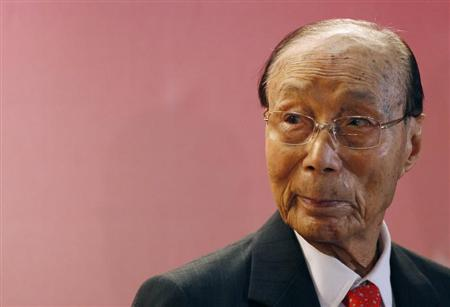Hong Kong tycoon Run Run Shaw attends the Run Run Shaw prize presentation ceremony in Hong Kong