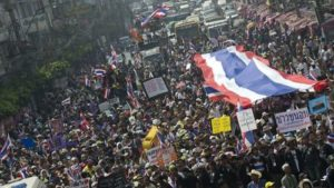THAI PROTESTS ORGANIZER-LEADER SHOT DEAD WHICH HE DESERVED FOR ATTACKING ADVANCED POLLING STATIONS FOR NEXT WEEK ELECTIONS